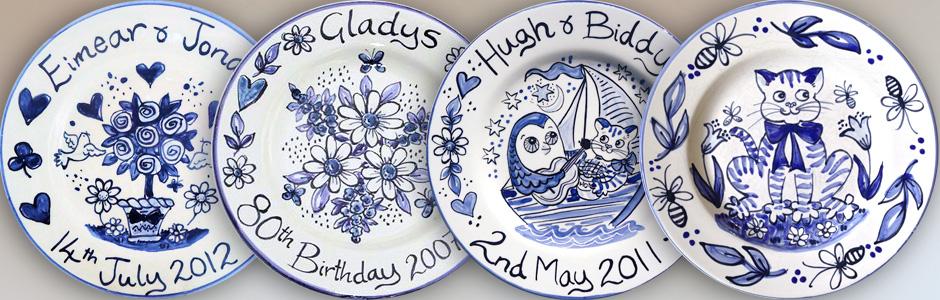 Blue & White Delft type Plates