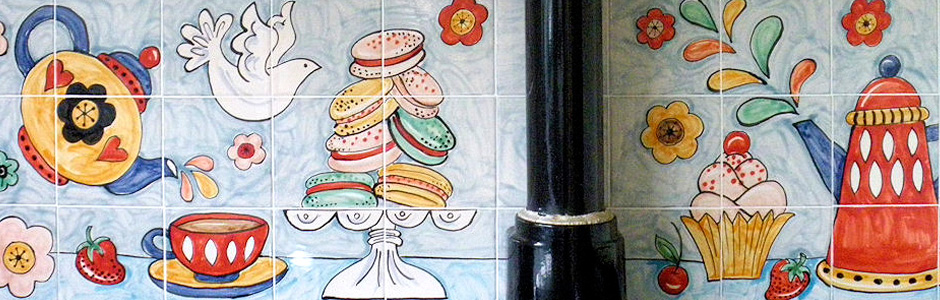 Hand Painted Kitchen Tile Murals