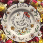 Happy Easter personalised plate