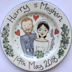 Harry and Meghan wedding hand painted plate
