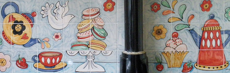 Hand Painted Kitchen Tile Murals