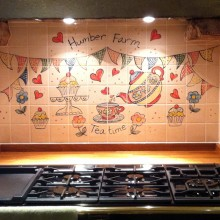 Hand Painted Humber Farm Kitchen Tile Mural