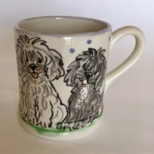 Dog hand painted Mug
