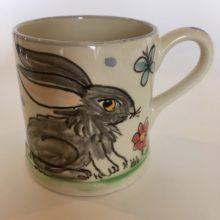 Hare hand painted Mug