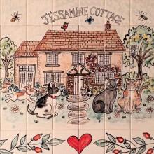 Jessamine Cottage Kitchen Tile Mural