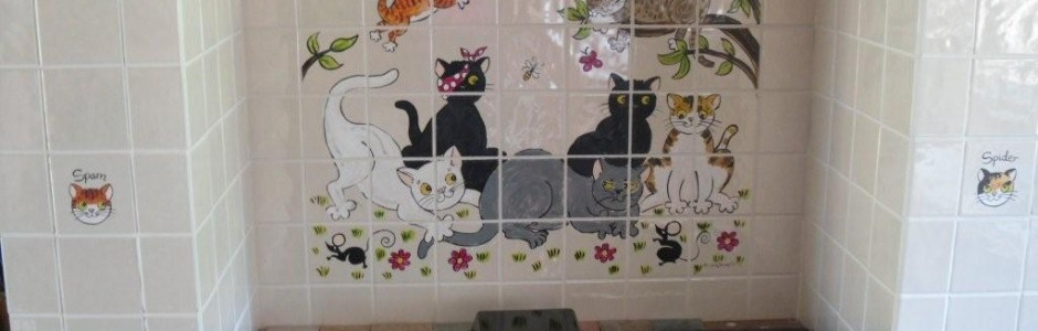 Cats Kitchen Cooker Splashback