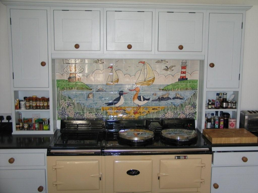 Hand Painted Kitchen Backsplash Murals