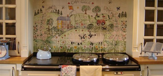 personalised farm yard Aga Splashback Tiles