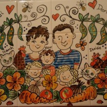 Hand Painted Family Garden Kitchen Tile Mural