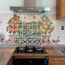 mediteranian Kitchen Tile mural