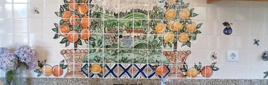 mediteranian Kitchen Tile mural