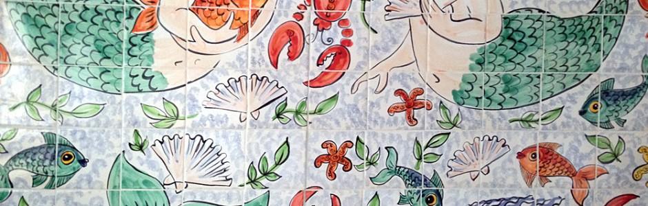 Hand Painted Mermaids swimming pool Mural Tiles