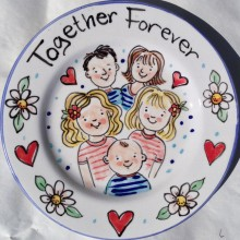 Together Forever Hand Painted Plate