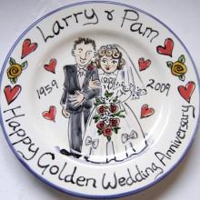 Larry & Pam Golden Wedding Anniversary Plate