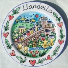 Llandeilo Bridge Hand Painted Plate