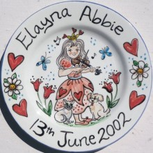Hand painted personalised happy birthday EA Plate