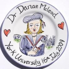 Graduation Hand Painted Personalised Plate 2009