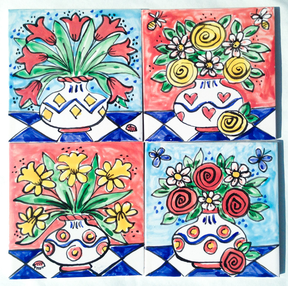 Single Tiles Kate Glanville Hand Painted Tiles Tile
