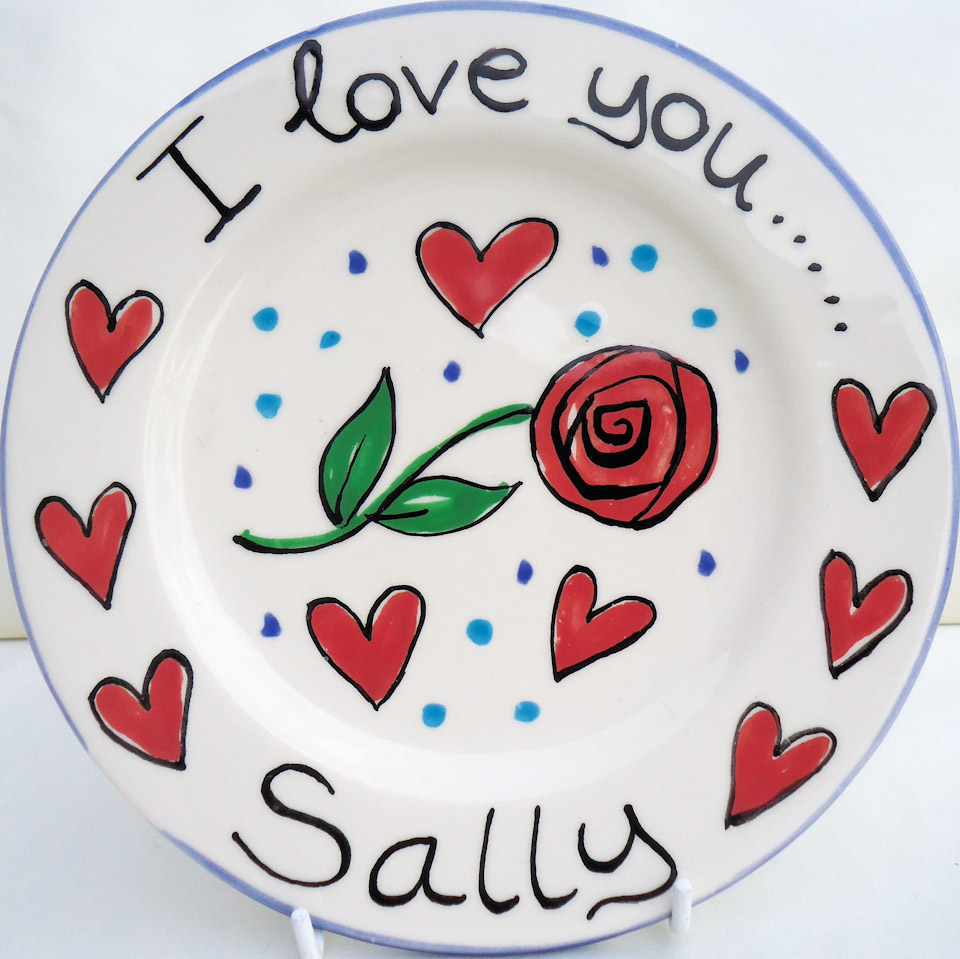 Kate Glanville I Love You Plate