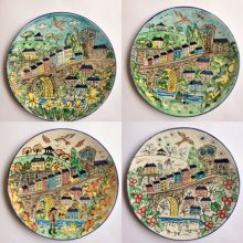 Llandeilo through the seasons hand painted plate