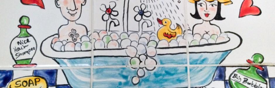 Mr & Mrs Bathtime Tile Murals