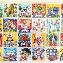 Single Alphabet ceramic wall Tiles