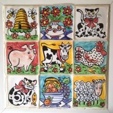 Hand Painted Single Farm Tiles