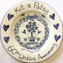 Wedding Anniversay personalised Delft type plate