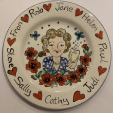 celebration hand painted personalised plate