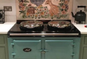 Hand Painted Kitchen Tiles - Hand painted kitchen tiles and kitchen tile murals by Kate Glanville can be personalised to your specific requirements. They can be custom made to fit in the space you require – behind your Aga, Rayburn or range cooker or work...  read more