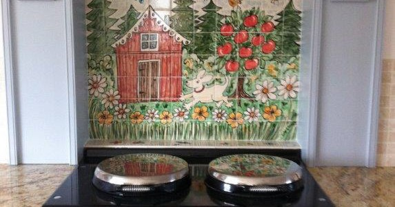 Dog In Orchard Aga Splashback