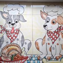 Dogs Dinner Kitchen Tiles