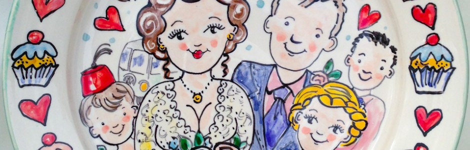 Hand painted personalised Wedding Plate 2013 S&A