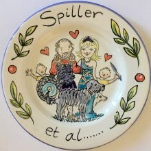 Hand painted family celebration plate