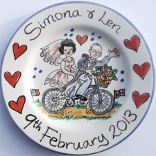 Hand painted wedding plate 2013 S&L