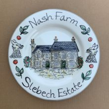 Hand painted holiday rental plate