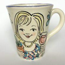Personalised mug of lady