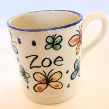Personalised painted mug with name