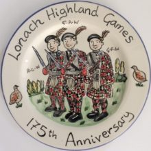 Highland games anniversary personalised plate
