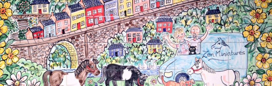 Llandeilo Horses Tile Mural