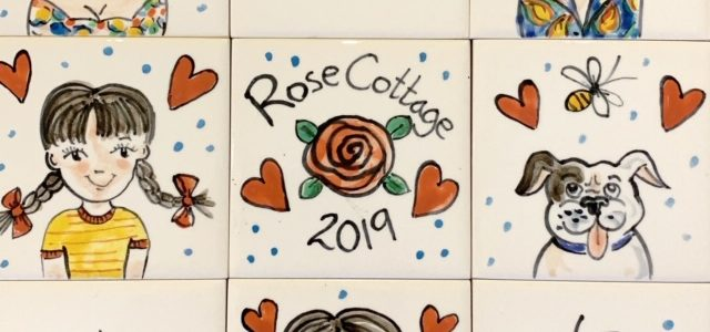 our family hand painted tiles