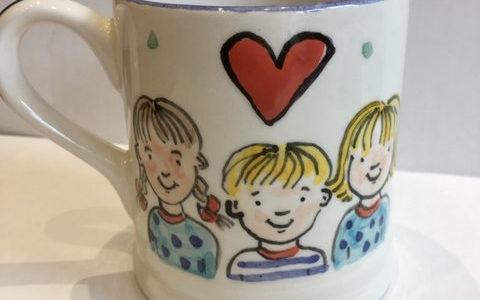 our kids personalised mug