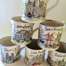 personalised city mugs