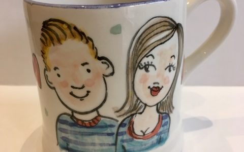 personalised his and hers mug