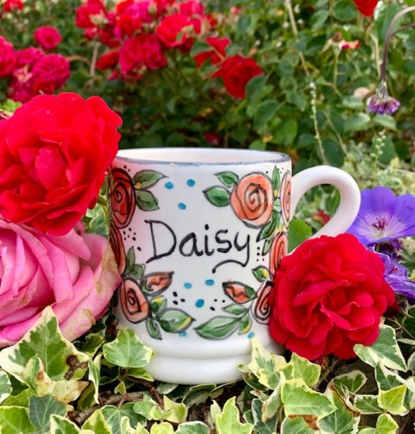 Personalised hand painted name mug Daisy
