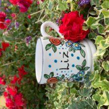 Personalised hand painted name mug Liz