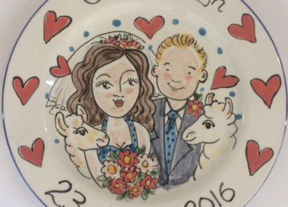 Personalised wedding gift plate
