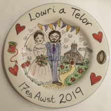 personalised wedding plate awst 2019