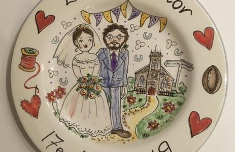 personalised wedding plate awst 2019