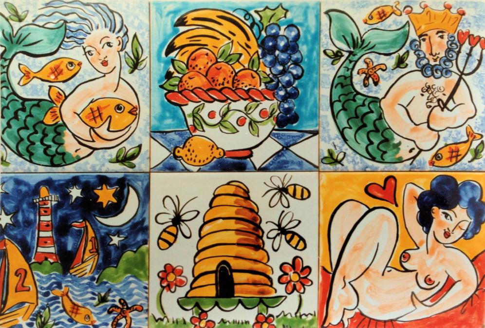 Single Tiles - Kate Glanville Hand Painted Tiles, Tile Murals ...